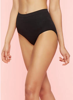 High Waisted Shapewear Panties - BLACK - 7150064879801