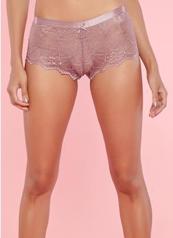 Lace Cheeky Boyshort Panties - 7150068060728