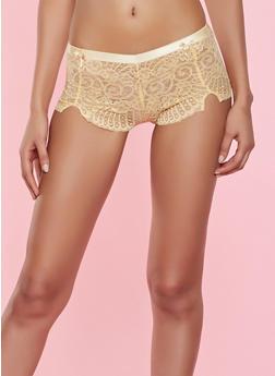 Lace Cheeky Boyshort Panty - 7150068063935