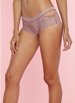 Lace Boyshort Panties with Cut Out Sides - 7150068067245