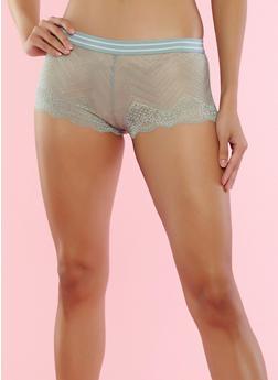 Scalloped Lace Boyshort Panties - 7150068069078