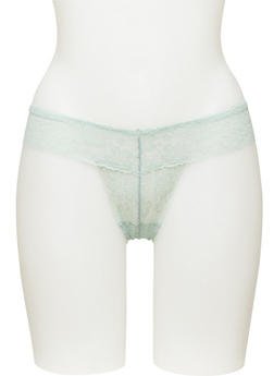All Over Lace Thong Panty - 7162035165511