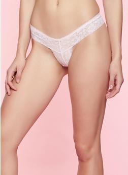 Lace Thong Panty | 7162035165513 - PINK - 7162035165513