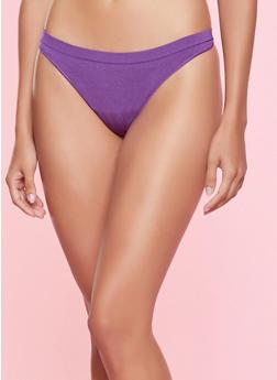 Seamless Thong Panty - PURPLE - 7162064870018