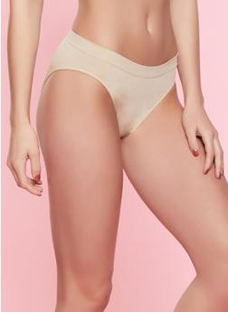 Seamless Solid Bikini Panty | 7162064870051 - TAN - 7162064870051