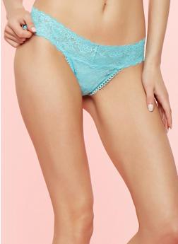 Lace Thong Panty - MINT - 7162064870503