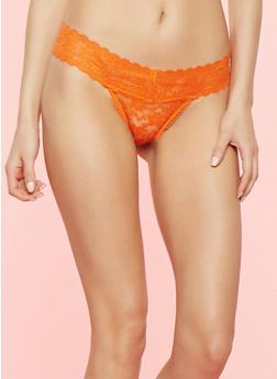Lace Thong Panty - 7162064870503