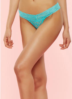 Lace Thong Panty - 7162064870587