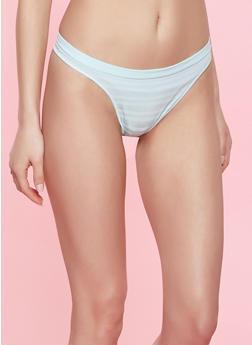 Striped Seamless Thong Panty | 7162064871921 - 7162064871921