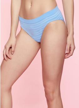 Striped Seamless Bikini Panty | 7162064871924 - BABY BLUE - 7162064871924