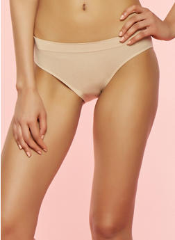 Solid Seamless Bikini Panty - NUDE - 7162064872207