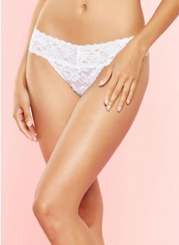 Lace Thong Panties - 7162064876690