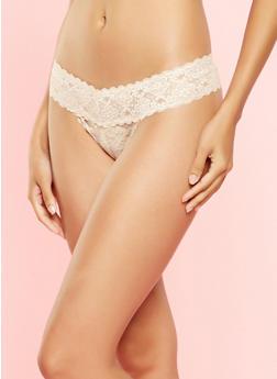 Lace Thong Panty - 7162064876690
