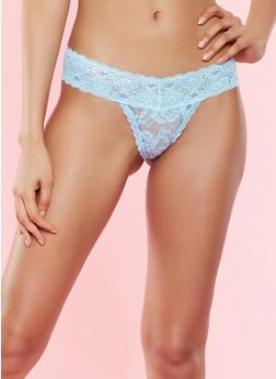 Lace Thong Panty - 7162064876902