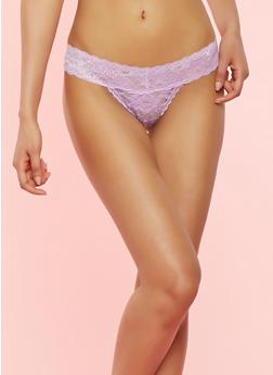 Lace Thong Panty - LAVENDER - 7162064876902