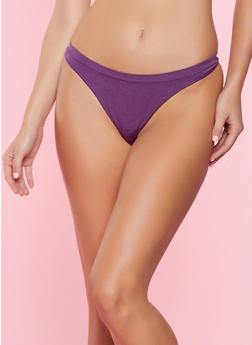 Solid Thong Panty - 7162064877208