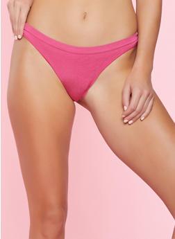Solid Thong Panty - MAGENTA - 7162064877208