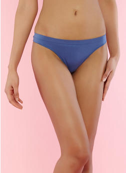 Solid Thong Panty - BLUE - 7162064877208
