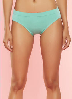 Solid Seamless Bikini Panty - MINT - 7162064877761