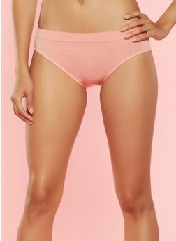 Solid Seamless Bikini Panty - CORAL - 7162064877761
