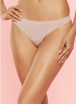 Solid Seamless Thong Panties - 7162064877762