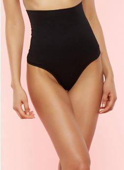 High Waisted Shapewear Thong Panties - 7162064877798