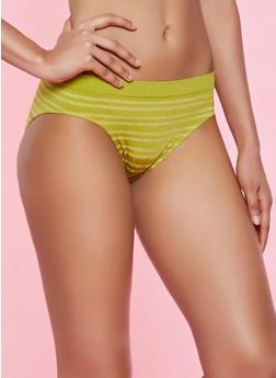 Striped Seamless Bikini Panty | 7162064878302 - 7162064878302