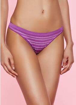 Striped Seamless Thong Panty | 7162064878303 - 7162064878303