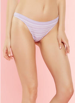 Striped Thong Panty - 7162064878631