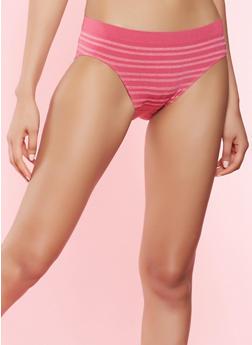 Striped Bikini Panty - MAGENTA - 7162064878633