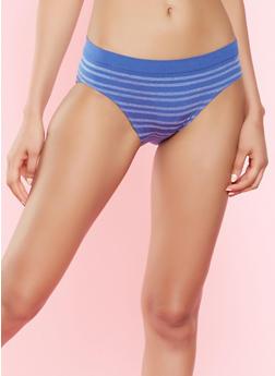 Striped Bikini Panty - BLUE - 7162064878633