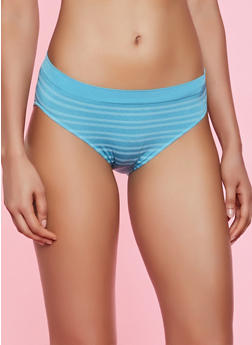 Striped Seamless Bikini Panty - 7162064879309