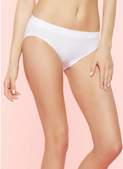Seamless Bikini Panty - WHITE - 7162064879963