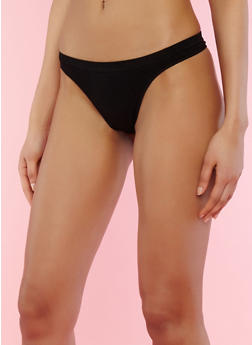 Solid Seamless Thong Panties - 7162064879964