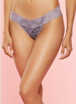 Lace Thong Panty - 7162068060553