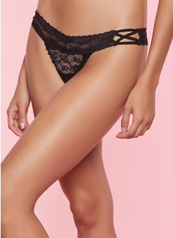 Caged Lace Thong Panty | 7162068061264 - 7162068061264