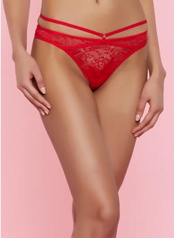 Caged Lace Thong Panty - 7162068063126