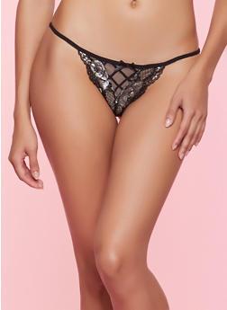Lace Thong Panty - 7162068063819