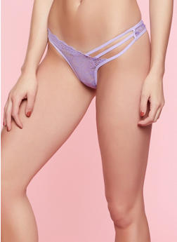 Caged Lace Thong Panty | 7162068064079 - 7162068064079