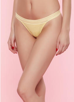Lace Mesh Thong Panty - 7162068064641
