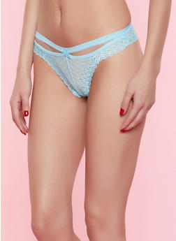 Lace Cut Out Thong - 7162068064672