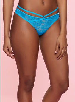 Caged Lace Thong Panty | 7162068067266 - 7162068067266
