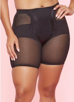 Plus Size Mesh Shapewear Shorts - 7166035162031