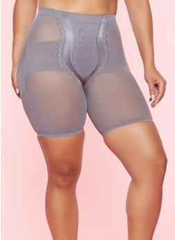 Plus Size Mesh Shapewear Shorts - 7166035162031