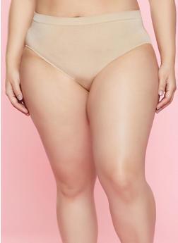 Plus Size Solid Bikini Panty | 7166064870051 - TAN - 7166064870051