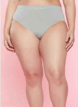Plus Size Solid Bikini Panty | 7166064870051 - OLIVE - 7166064870051