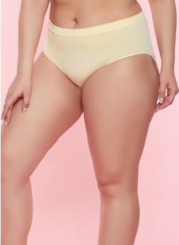 Plus Size Solid Seamless Bikini Panty - 7166064871920