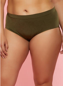 Plus Size Solid Seamless Bikini Panty | 7166064873018 - 7166064873018