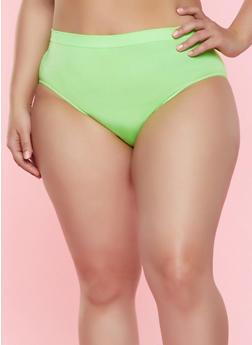 Plus Size Neon Bikini Panty - 7166064873022