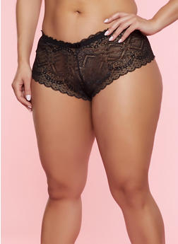 Plus Sized Keyhole Panties